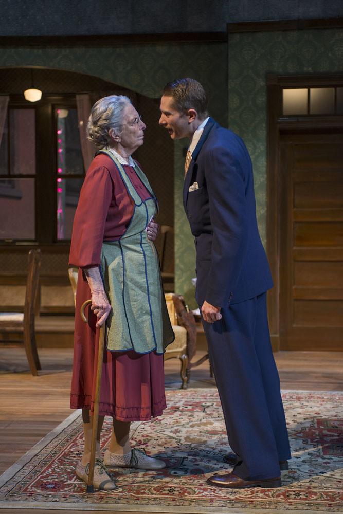 Ann Whitney (Grandma) and Erik Hellman (Louie)