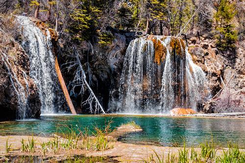 Waterfall at Hanging Lake | Hanging Lake, Glenwood Canyon, CO | May, 2014  by Somnath Mukherjee Photoghaphy
