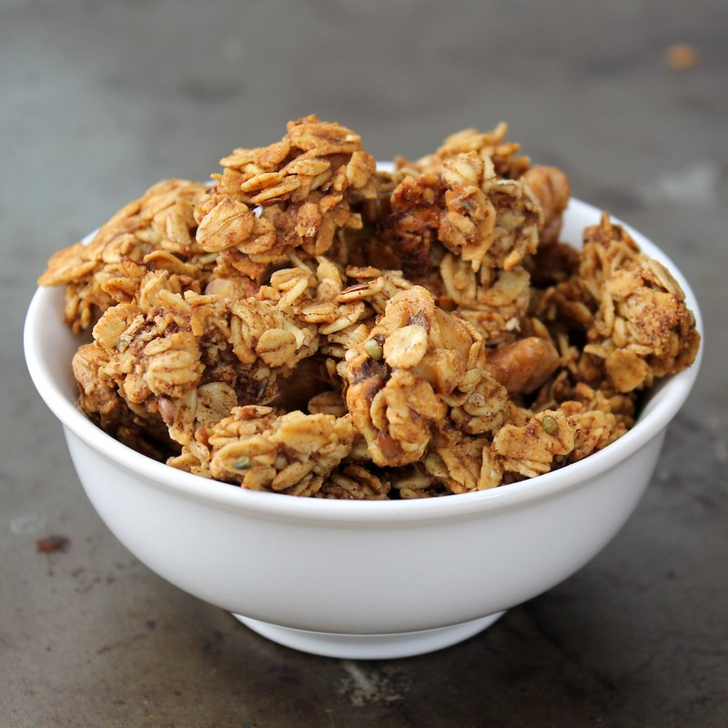 square Banana Bread Granola