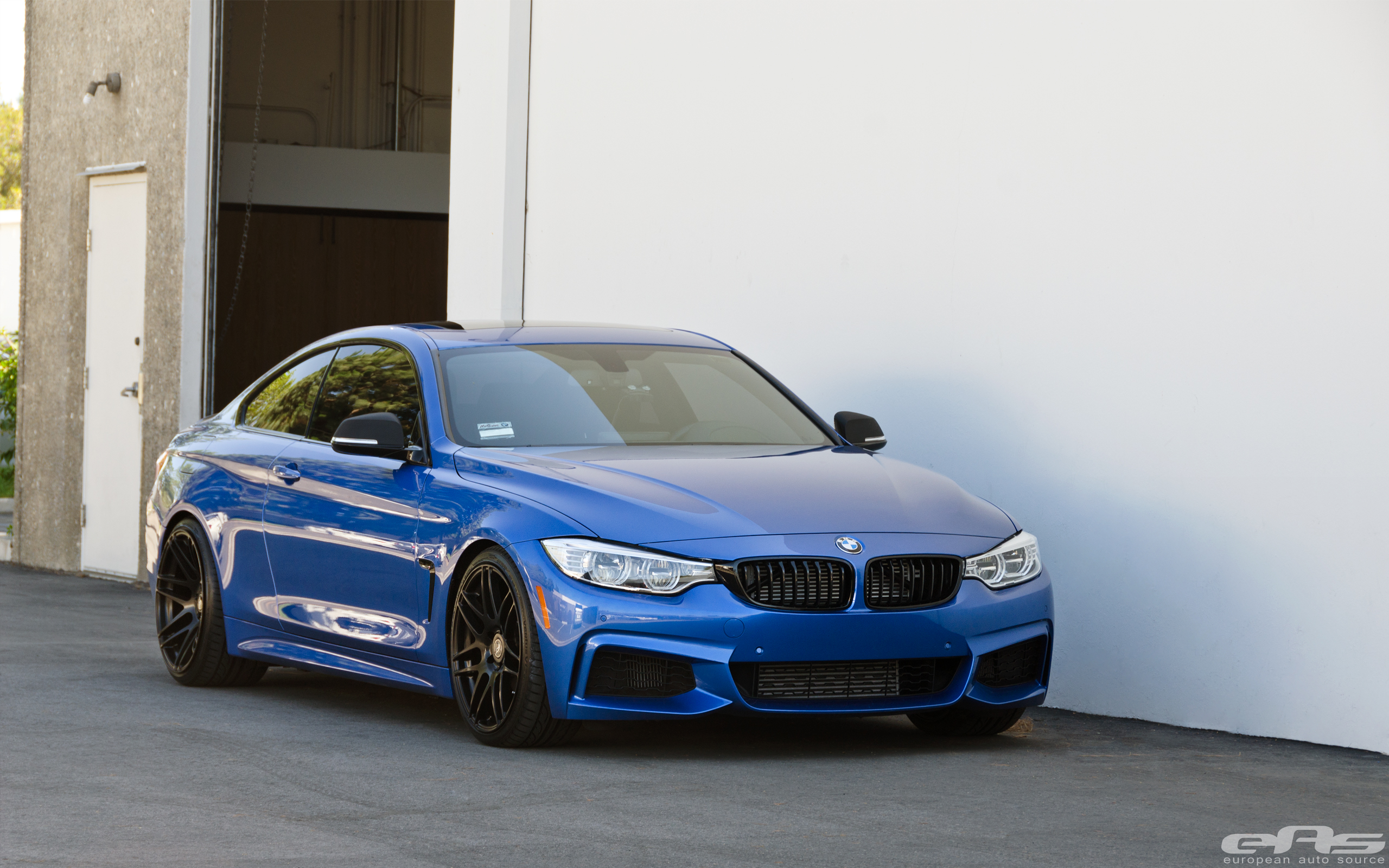 Lowered Estoril Blue 435i On Forgestar F14 Wheels Bmw