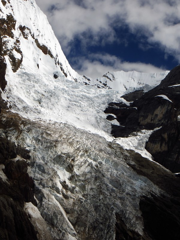 Hanging glacier on Carnicero.
