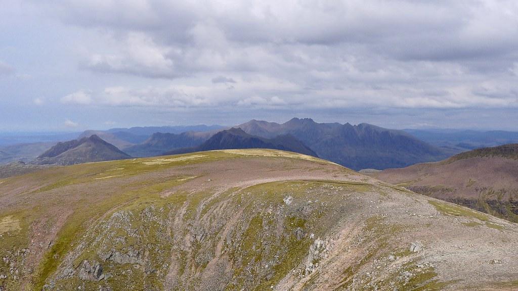 A' Mhaighdean's northern top