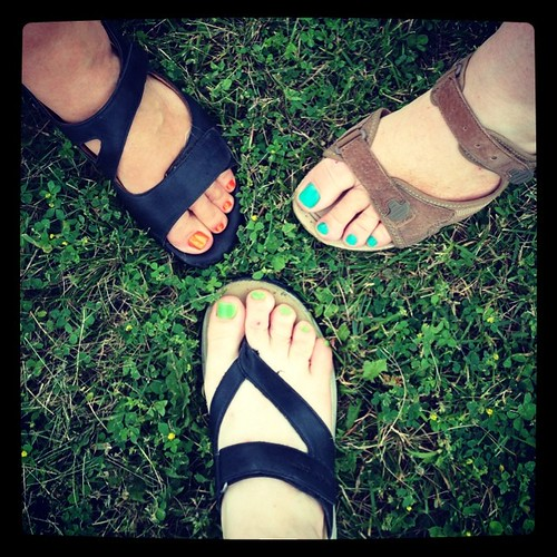 #fmsphotoaday June 23 - In this moment. We got pedicures!