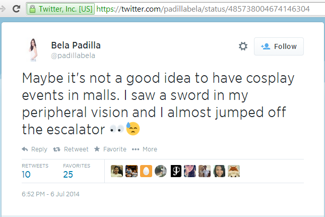 Local Artiste Dissess Cosplayers, Then Cosplays Bela Padilla