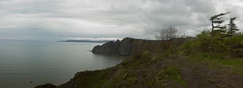 panorama landscape pacific cloudy cliffs magadan gertner seaofokhotsk galushchak okhotsks