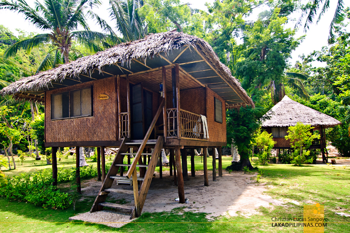 Native Huts at Sangat Island Dive Resort in Coron