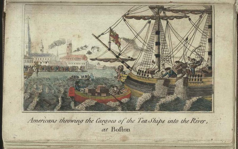 Boston Tea Party, from The History of North America
