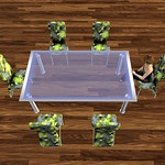 Modern Dining Table Set Abstract 3D Models