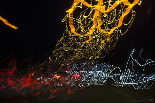 motorway lightpainting