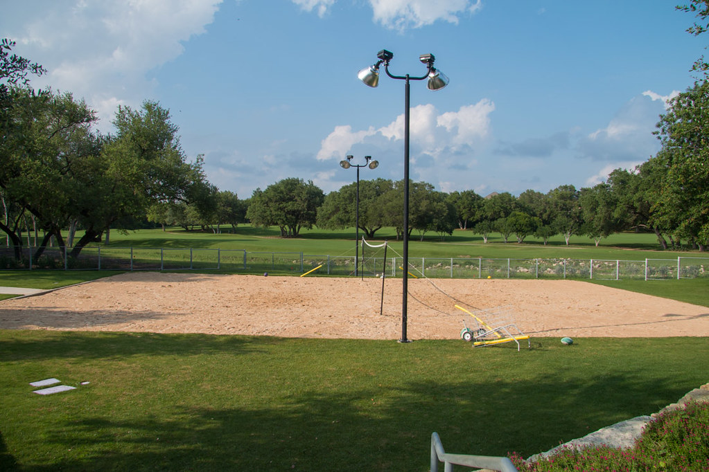 Beach volleyball court at Hyatt Hill Country
