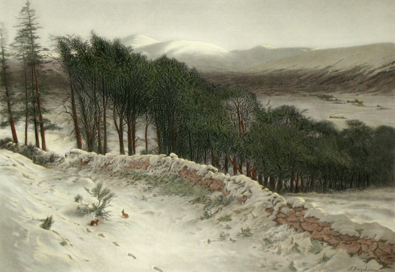 Where Winter Holds its Sway by Joseph Farquharson