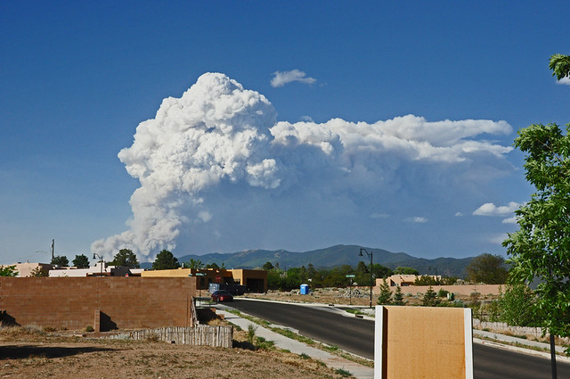 Smoke from the Jaroso Fire