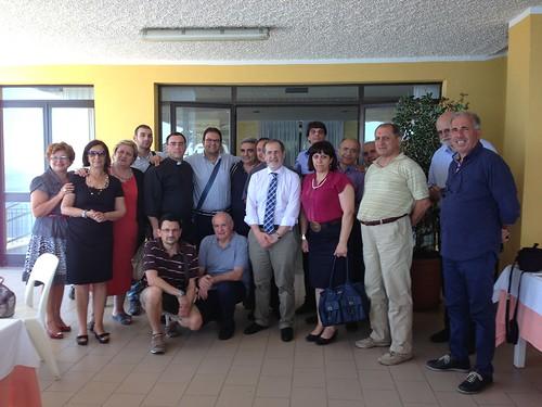 Il presidente Bottalico con gli aclisti del circolo di Paola