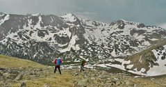 Overtaken by Thunderstorms on Slopes of South Arapaho