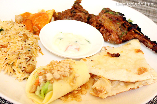 Chinese and North Indian on Plate at Spiral Sofitel Manila