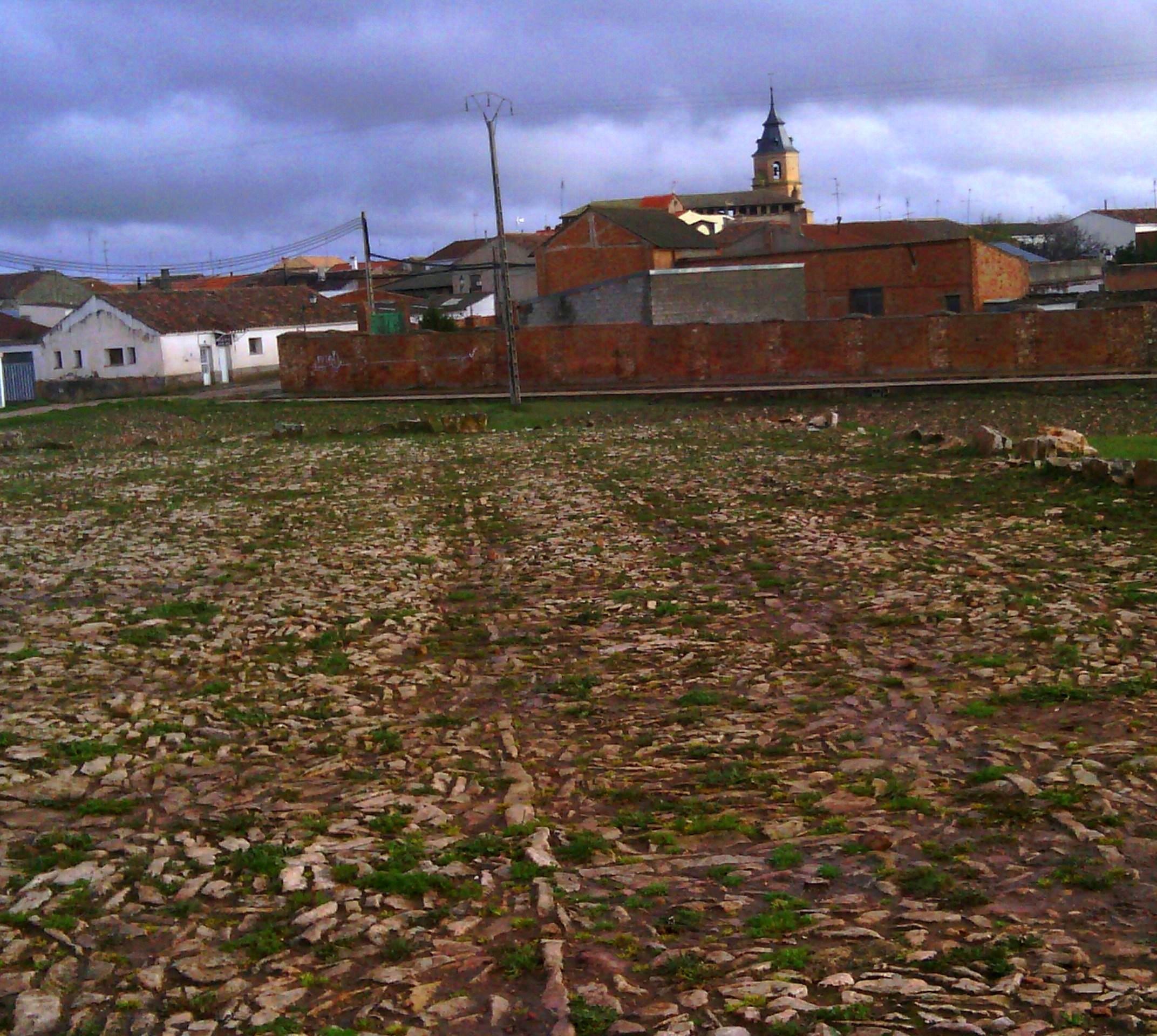 Estructura de una era empedrada. Villahermosa, en el Campo de Montiel