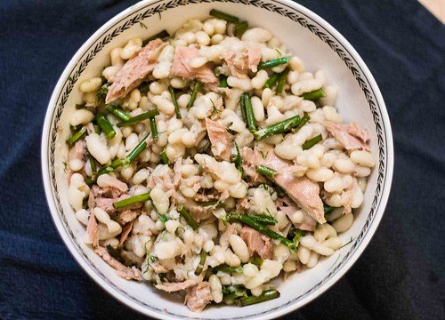 Tuna and Flageolet Bean Salad with Garlic Scapes (3 of 5)