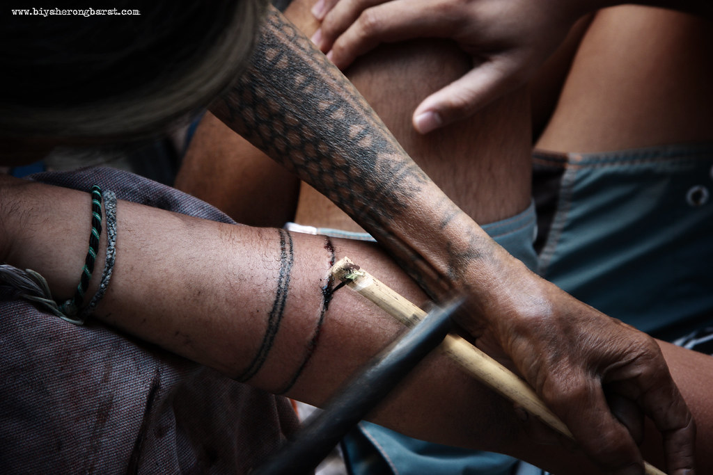 Fang-Od traditional tattoo in Buscalan, Tinglayan, Kalinga, batok