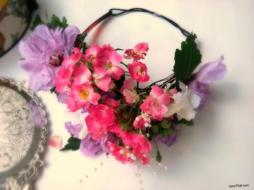 DIY Handmade Fresh Floral Crown How To by Gift Style Blog Gave That