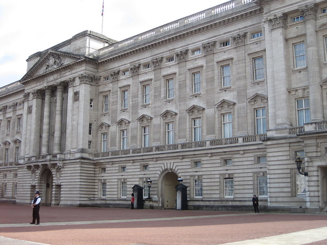 Buckingham Palace on a sunny day