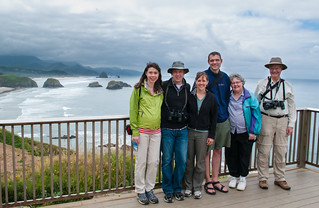 Family at Ecola State Park