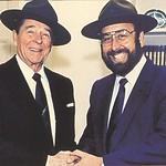 President Ronald Reagan and Shotgun Tom Kelly