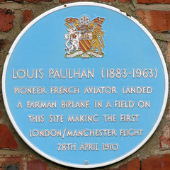 Photo of Louis Paulhan blue plaque
