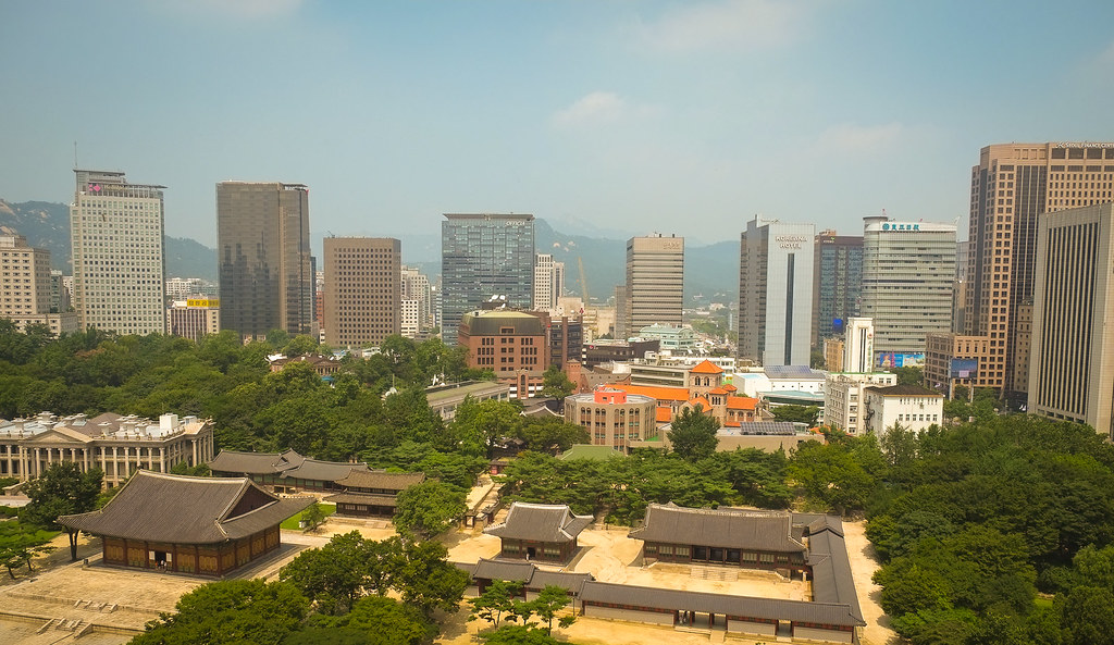 Jeong-dong Seoul from the Jeong-dong Observatory