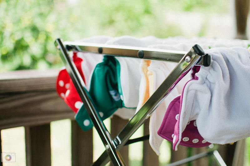 cloth diaper shell drying