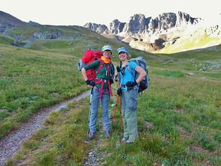 Erin and Clare Backpacking American Basin