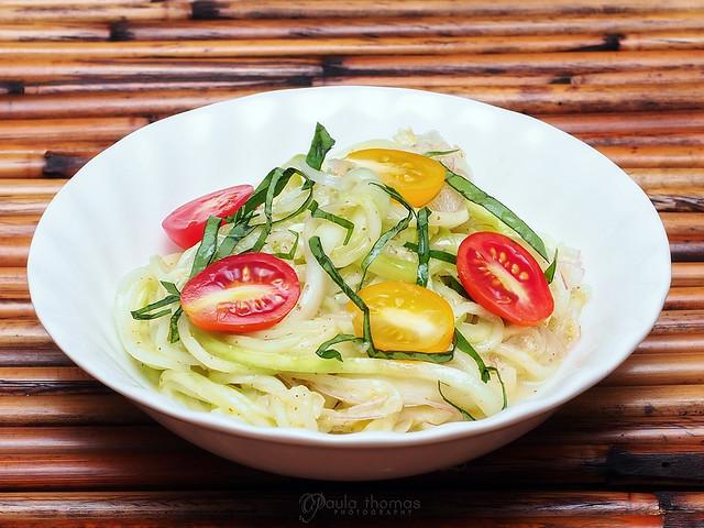 Raw Zucchini Noodle Salad