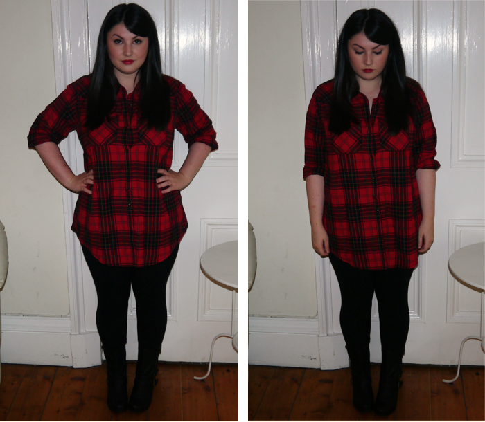 how to wear grunge plaid trend outfit 7