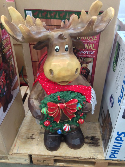 Costco Christmas holiday moose decoration | Flickr - Photo Sharing!