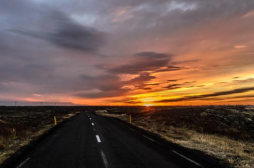 road sunset iceland reykjanes hafnir southernpeninsula nikond7000 sigma1770f284osmacrohsm