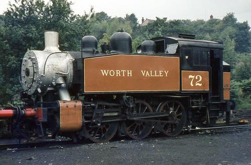USA Class 0-6-0T 72 (ex BR 30072), Haworth, circa 1969.