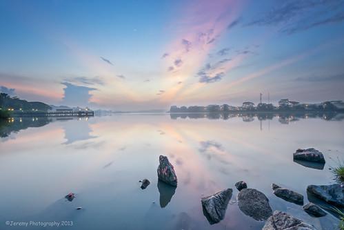 morning sunrise lens landscape dawn nikon singapore soft break reservoir filter 09 lee lower nikkor dslr d800 waterscape seletar uwa yishun gnd 1024mm
