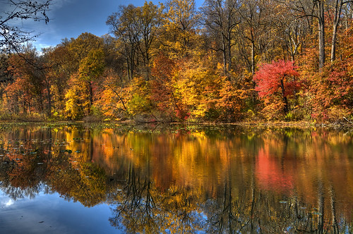 county new autumn lake color fall union nj surprise jersey watchung hdr reservation photomatix