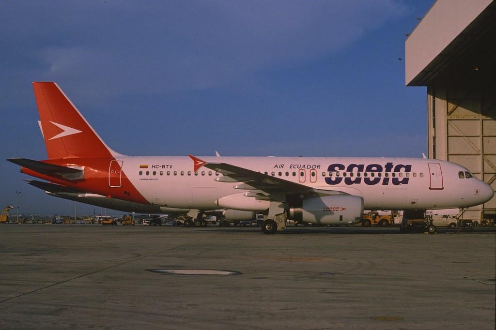 Saeta Air Ecuador Airbus A320-231; HC-BTV, December 1994
