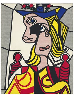 "Lichtenstein, Roy (1923-1997) - 1963 Woman with Flowered Hat"" (Christie's New York, 2013)"