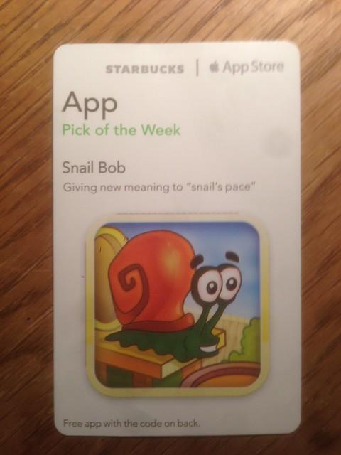 Starbucks iTunes Pick of the Week - Snail Bob
