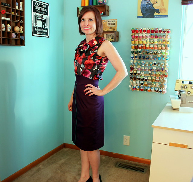 Gertie's pencil skirt and Simplicity 2154