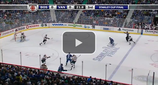 And Raffi makes it 1-0 Canucks!