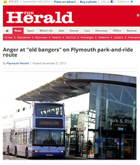 Anger at  old bangers  on Plymouth park-and-ride route   Plymouth Herald