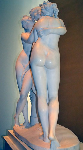 Antonio Canova (1757-1822) - The Three Graces, Woburn Abbey version (1814-1817) right 2, Victoria and Albert Museum, August 2013