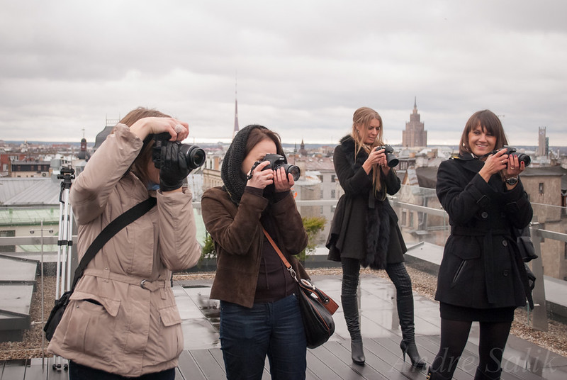 С Anastasia Širone, Inese Andžāne and Karina Dzene-Vilcane в Рига. DSC_3229