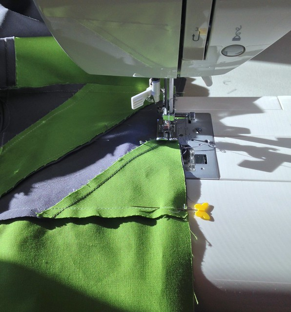 Sewing in the sunshine