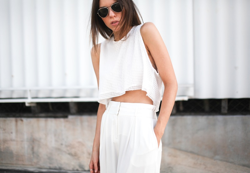 modern legacy fashion style blogger australia sass bide wide leg silk pants faddoul label top zara boyfriend blazer white birkenstocks street style alexander wang rafael bag (11 of 11)