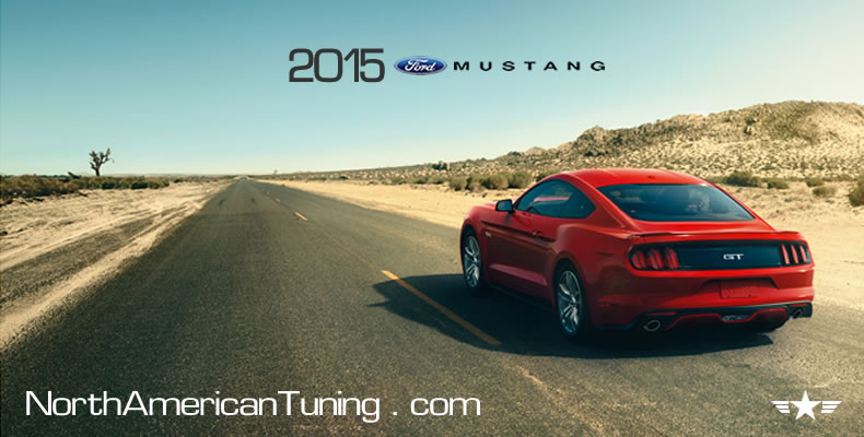 2015 Ford Mustang Unveiling Red Back