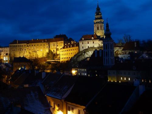 La hora azul en Cesky Krumlov