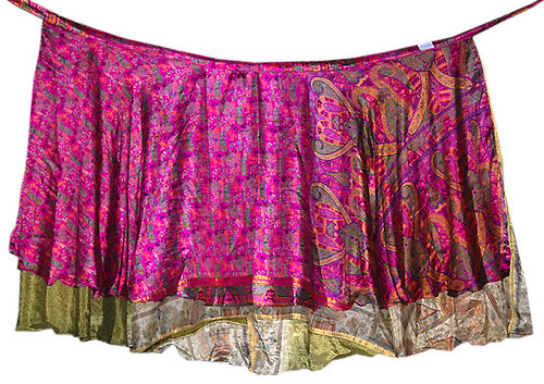 Bohemian wrapskirt vintage sari hippie skirts beach wear dresses